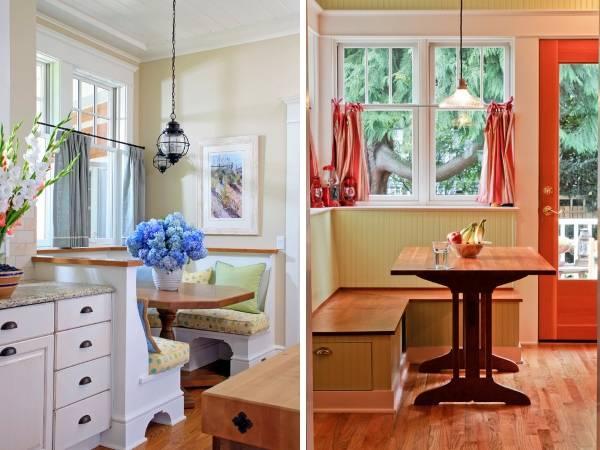 Короткие шторы на кухню на половину окна