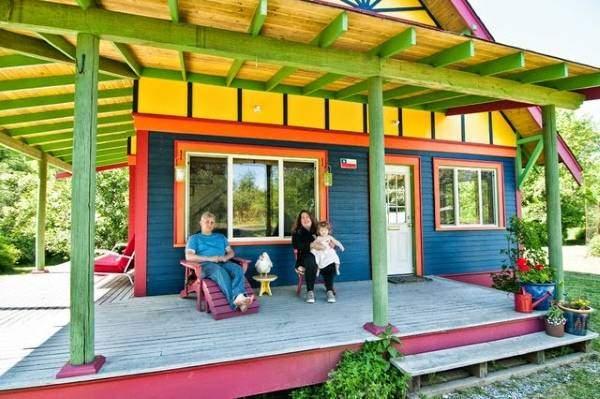 Самый удивительный цвет фасада дома на фото