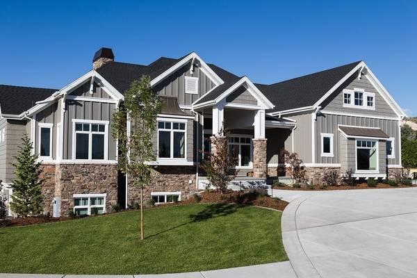 цвет фасада дома с коричневой крышей фото
