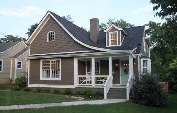 Фото домов коричневого цвета