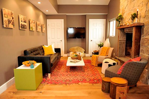 Модный коричнево - серый цвет для покраски стен в интерьере