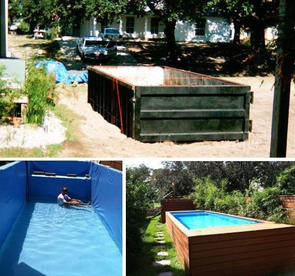 Металлический бассейн на даче своими руками - фото инструкция