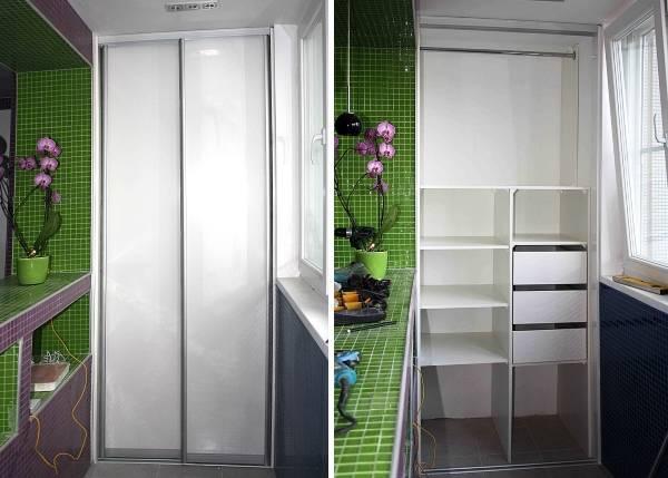 Удобный и красивый шкаф на балкон - 40 фото разных моделей р.
