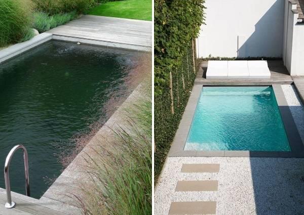 Бетонные бассейны и ландшафтный дизайн на фото