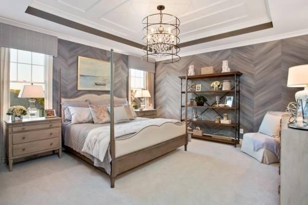 Деревянная отделка спальни в современном стиле 2016