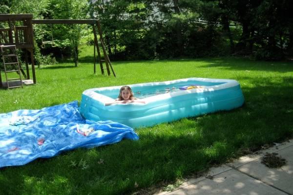 Маленький детский бассейн - фото надувного бассейна