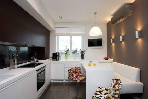 Дизайн кухни 10 кв м в малогабаритной квартире на фото