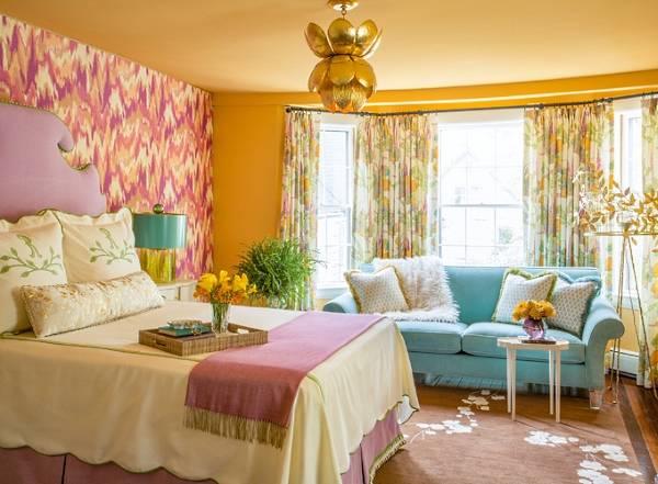 Яркий дизайн спальни - фото 2016 современные идеи