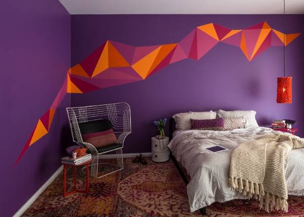Идеи покраски стен в квартире в фиолетовый цвет