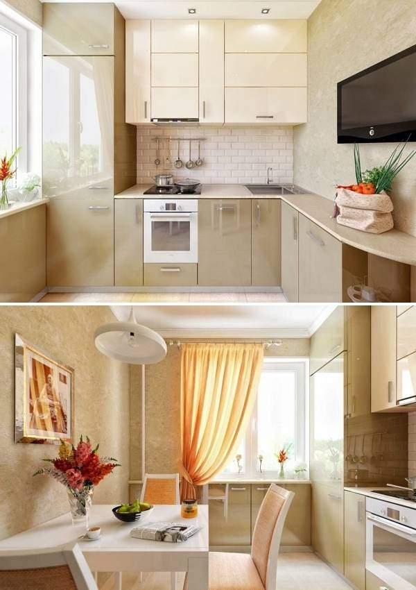 Современный интерьер кухни 10 кв м - фото