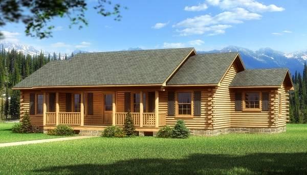 Подборка фото фасадов деревянных домов из бревна и бруса