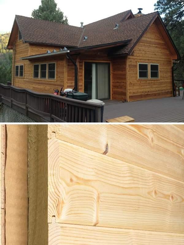 Красивые деревянные дома, обшитые сайдингом, на фото