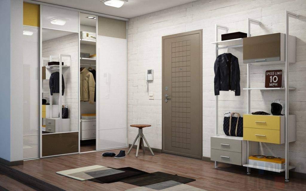 Встроенный шкаф-купе в дизайне квартиры (фото прихожей)