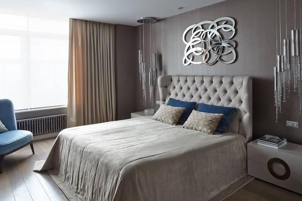 Дизайн интерьера спальни в современном стиле с ноткой luxury