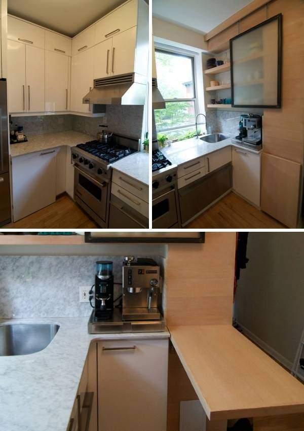 Малогабаритная кухня в хрущевке - минималистский дизайн на фото