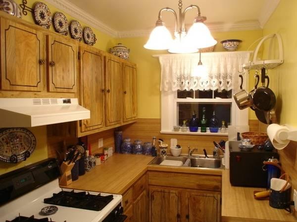 Деревенский дизайн маленьких кухонь для малогабаритных квартир