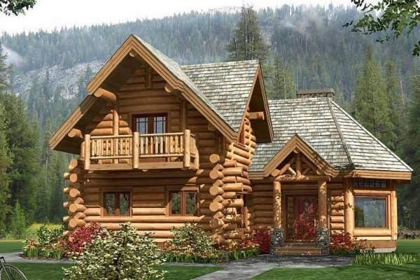 ддизайн деревянного дома из бруса снаружи - фото двухэтажного частного дома
