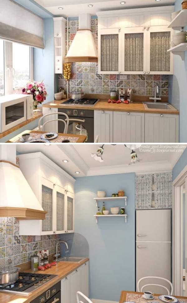 Стиль прованс в дизайне малогабаритной кухни 6 кв м фото
