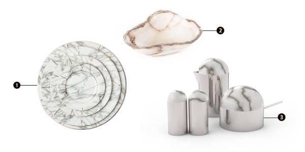 Стильные предметы интерьера 2016 под мрамор