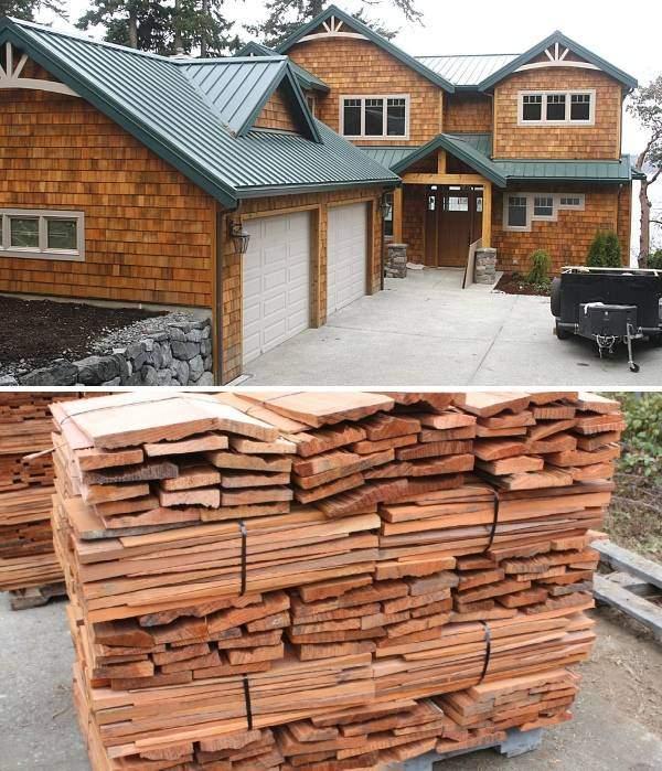 Красивые фасады деревянных домов - фото отделка сайдингом