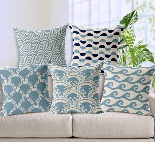 Стильные предметы декора для дома - подушки с принтом