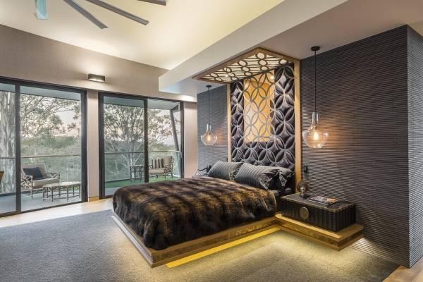 Дизайн спальни - фото в современном стиле luxury