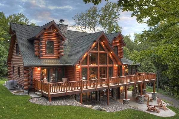 Шикарные деревянные дома из бруса на фото