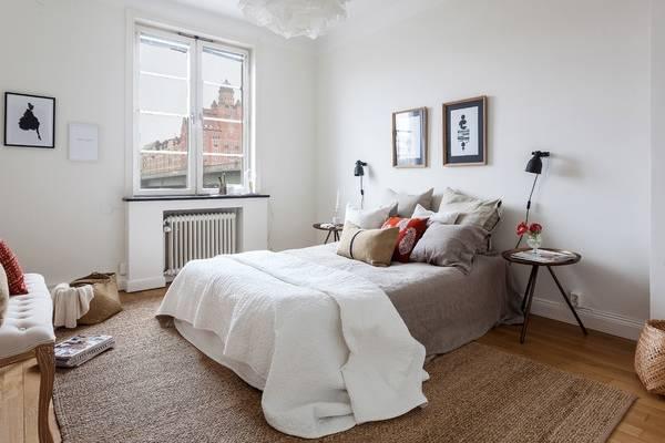 Спальня в современном скандинавском стиле - фото