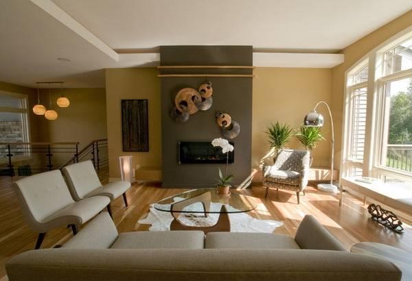 Настенный декор и другие аксессуары для интерьера зала