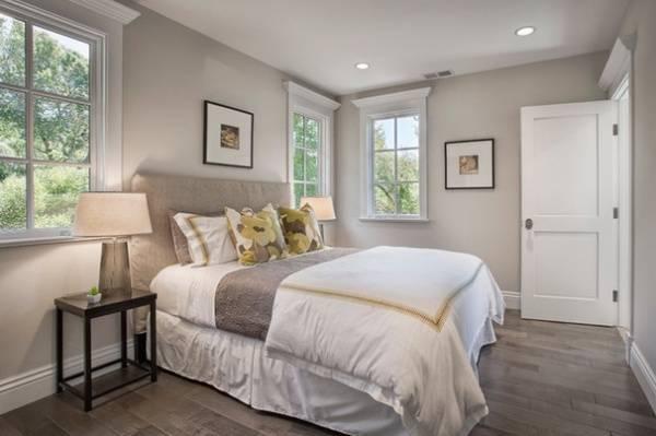 Идеи покраски стен в квартире - стены спальни в сером цвете