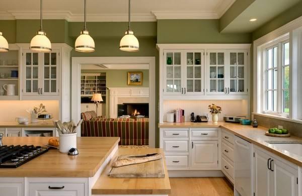 Зеленая краска для покраски стен в квартире