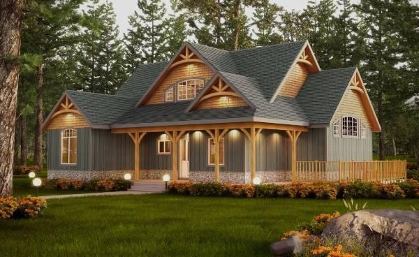 Внешняя отделка деревянного дома - фото сайдинг и покраска