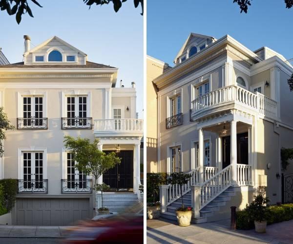 Фасадные элементы из полиуретана в дизайне частного дома