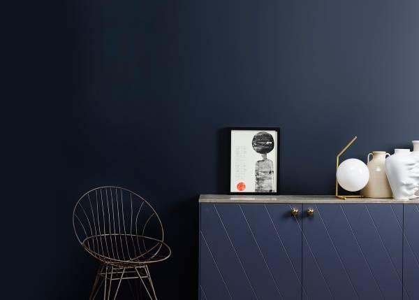Черная краска для стен в квартире - фото 2016