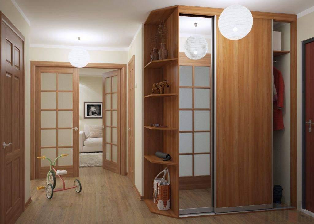 Встроенный шкаф-купе в интерьере прихожей (фото)