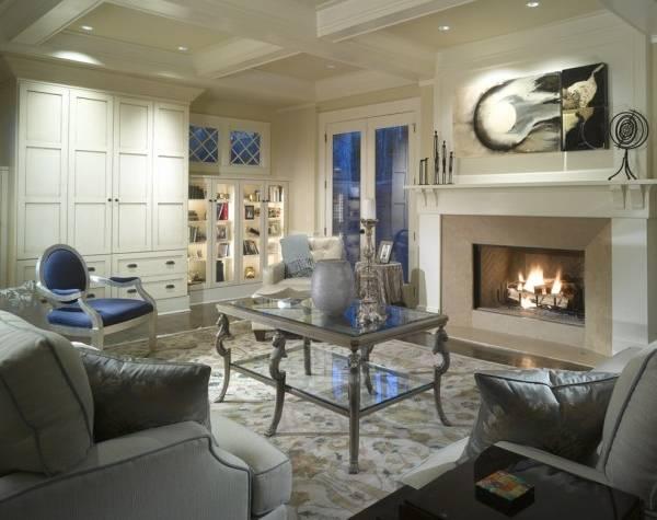 Классическая мебель - витрины для гостиной с подстветкой