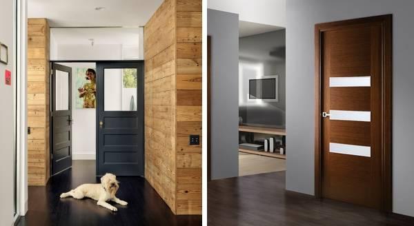 Межкомнатные темные двери в интерьере дома и квартиры