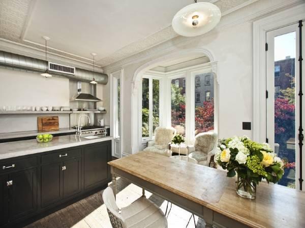 Дизайн кухни с эркером в интерьере квартиры