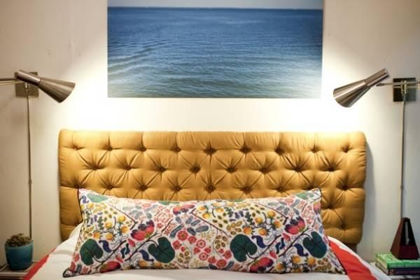 Кровати двуспальные с мягким изголовьем - фото своими руками
