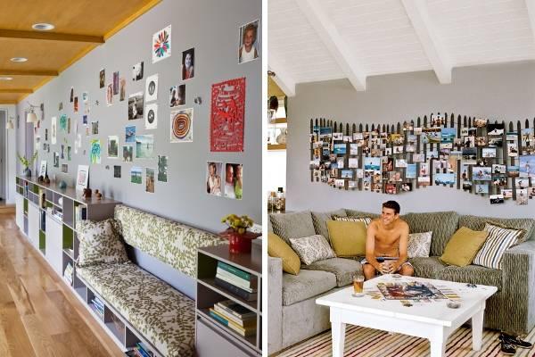 Как можно украсить стену в комнате своими фотографиями