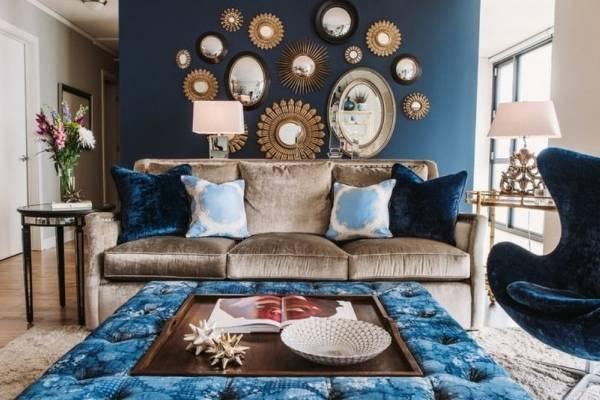 40 идей как украсить стены в гостиной и других комнатах