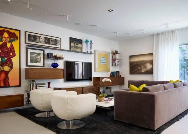 Как украсить стену в комнате своими руками - интерьер гостиной