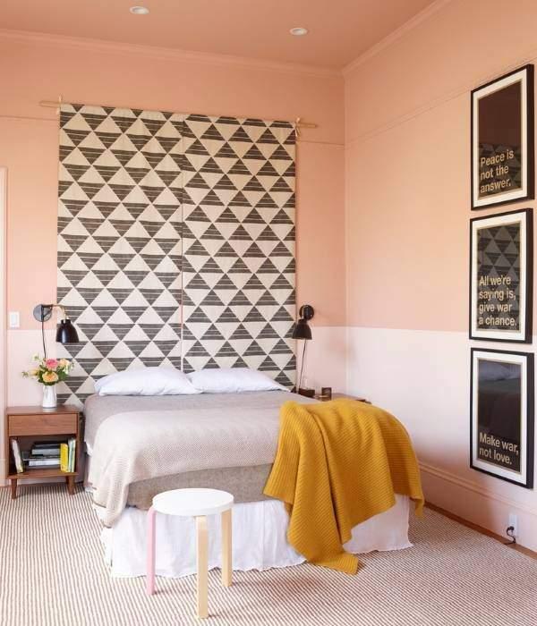 Как украсить стену в спальне - фото декора за изголовьем