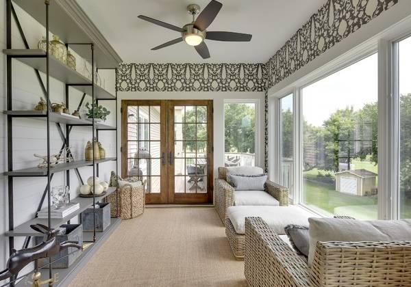 Плетеная мебель из ротанга - фото в интерьере