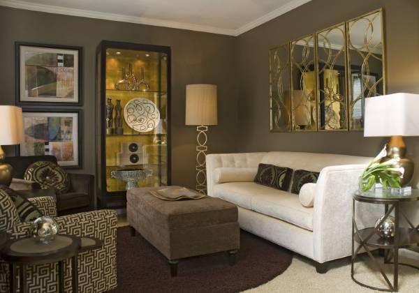 Красивые современные витрины для гостиной фото