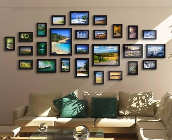 Как повесить фото на стену - лучшие идеи, схемы и примеры