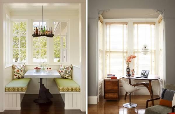 Маленькая кухня с эркером - фото интерьера