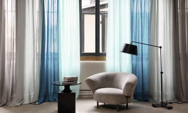 Модный дизайн ткани из льна от бренда Elitis