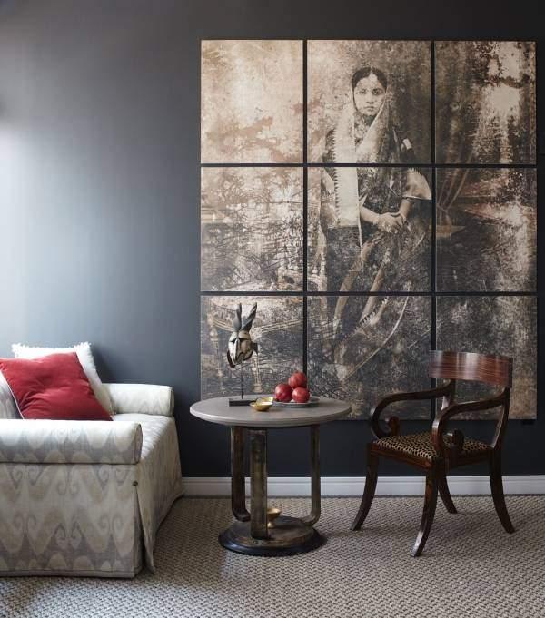 Как украсить стену с модульными картинами