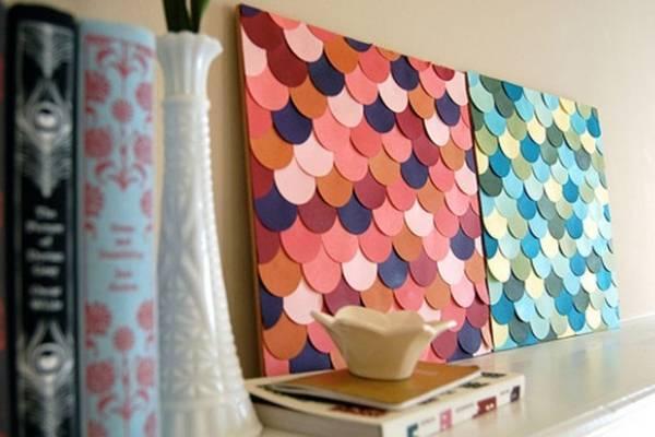 Как можно украсить стену поделками из бумаги